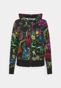Versace Jeans Couture - Zip-up sweatshirt - black/multi - 9