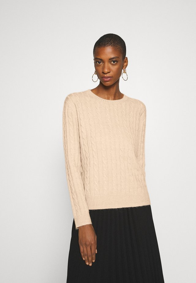 CABLE SPONGY JUMPER - Sweter - brazilian sand