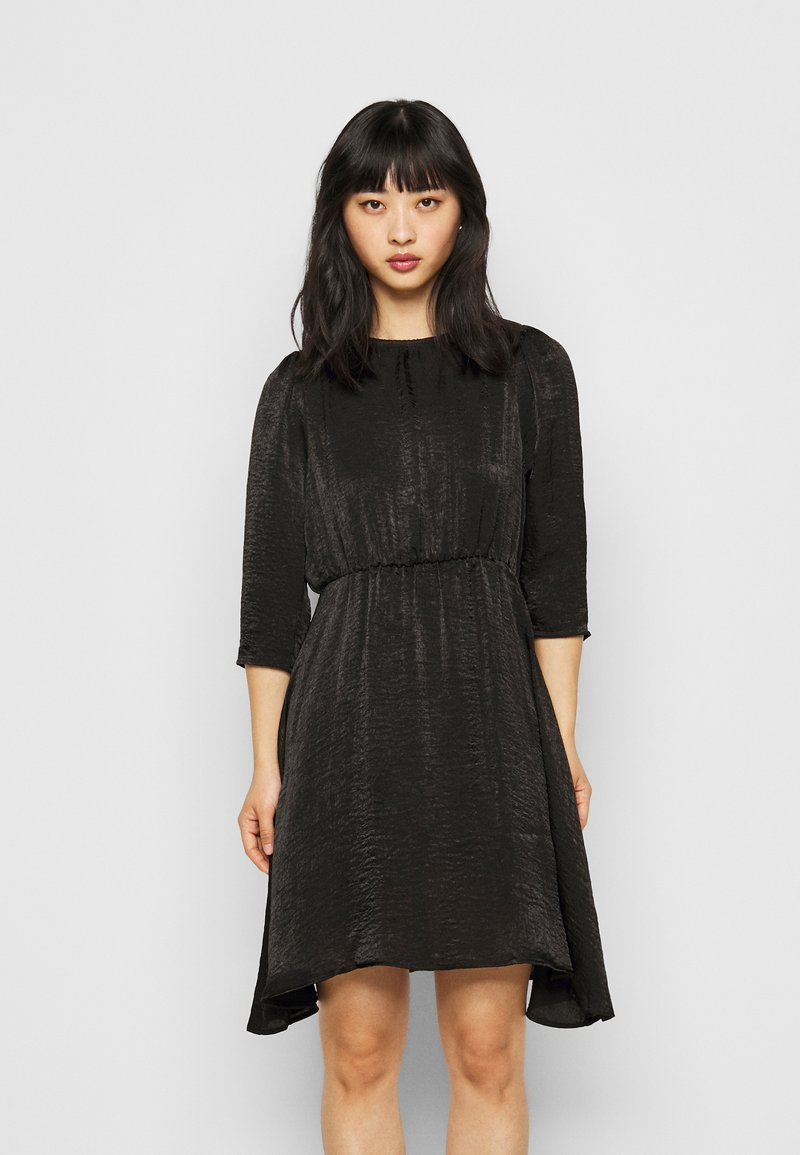 Vero Moda Petite - VMJENICE SHORT DRESS - Day dress - black