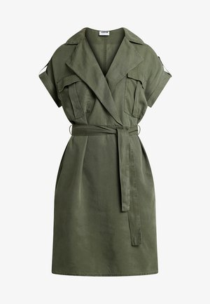 NMVERA ENDI SHIRT DRESS - Denimové šaty - olive night