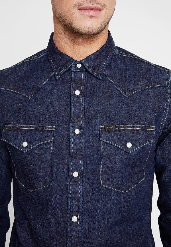 Lee WESTERN - Koszula - blue/ciemnoniebieski Odzież Męska RHNQ