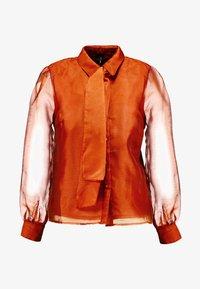 Vero Moda - VMAVA ORGANZA - Button-down blouse - Košile - cinnamon stick - 4