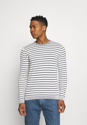 ONSALEX STRIPED CREW NECK - Svetr - star white