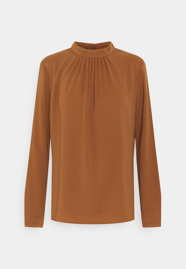 Long sleeved top - toffee