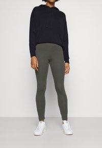 Monki - MEI - Leggings - Trousers - grey dark - 0