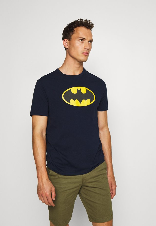 BATMAN - T-shirt z nadrukiem - tapestry navy
