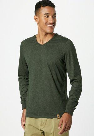 Longsleeve - dunkelgrün