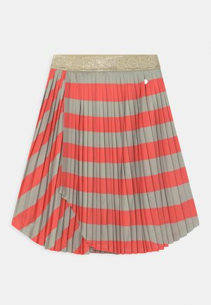 Pleated skirt - coral