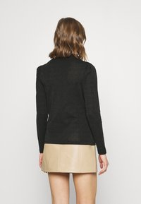 Vero Moda - VMSILVIA GLITTER  - Long sleeved top - black - 2