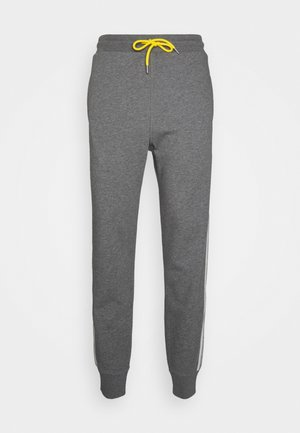 PETER TROUSERS - Verryttelyhousut - dark grey melange