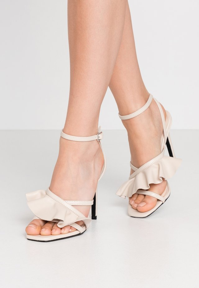 ROSIE ANKLE TIE - High heeled sandals - ivory