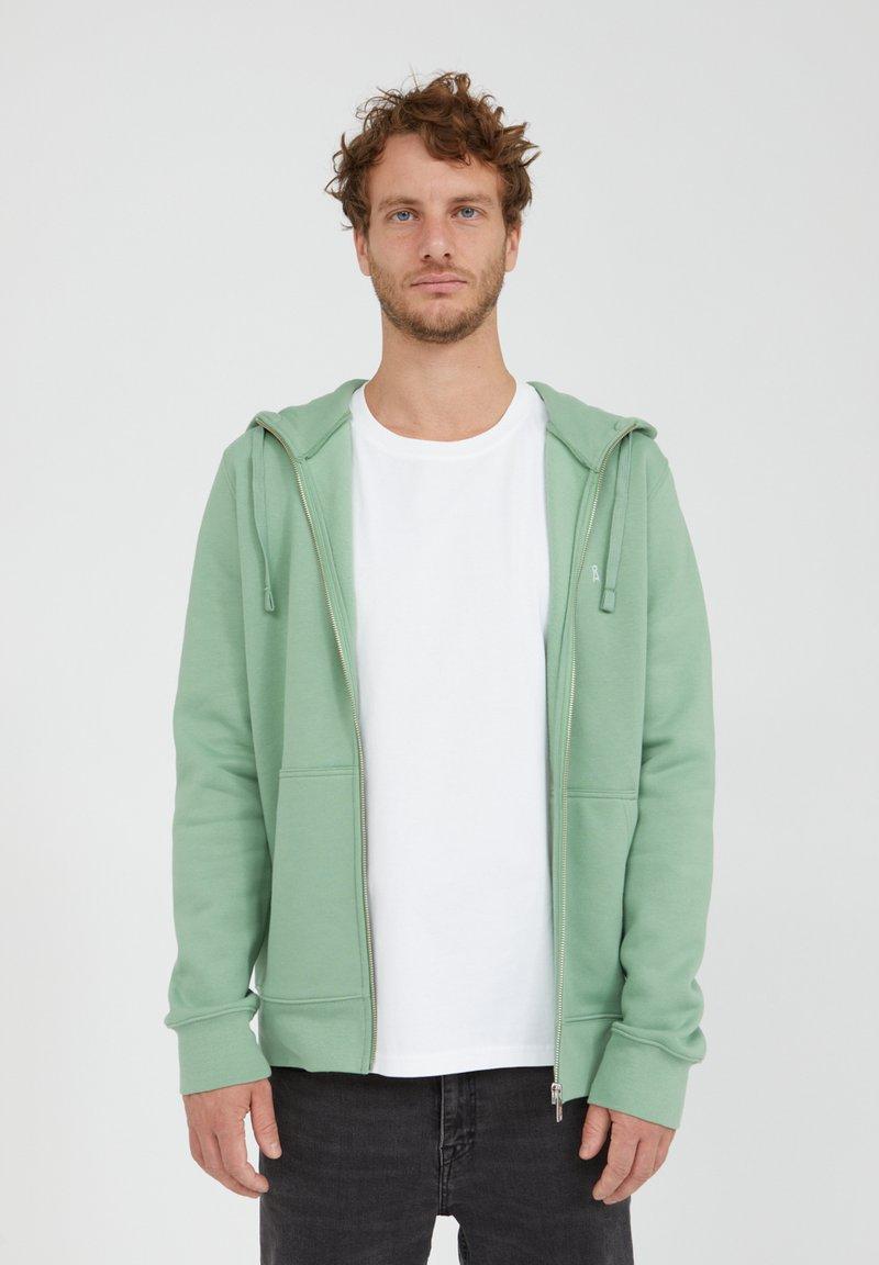 ARMEDANGELS - Zip-up sweatshirt - misty grass