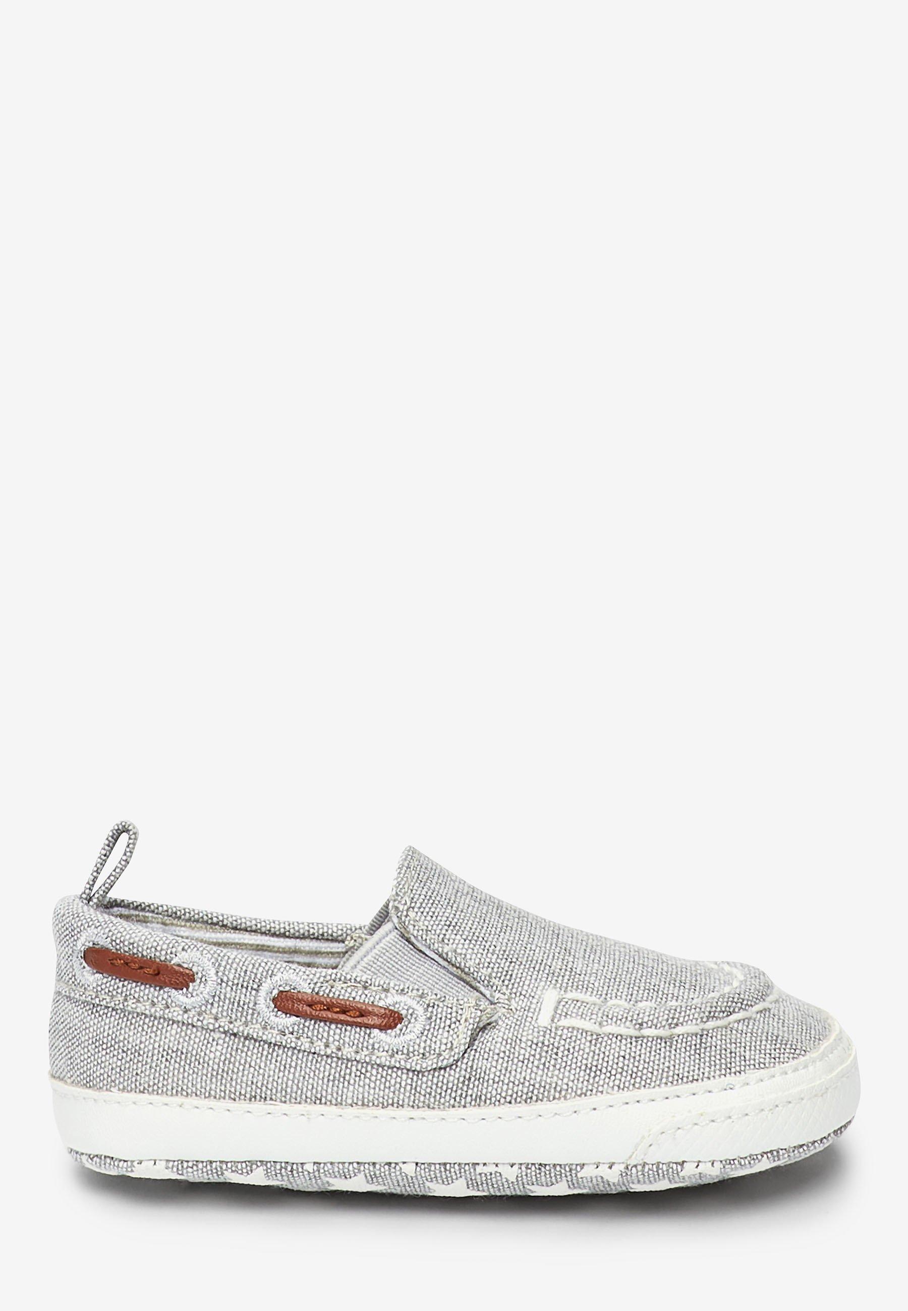 Next Grey Pram Slip-on Boat Shoes (0-24mths) - Náuticos