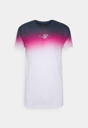 HIGH FADE TEE - Printtipaita - navy/neon pink