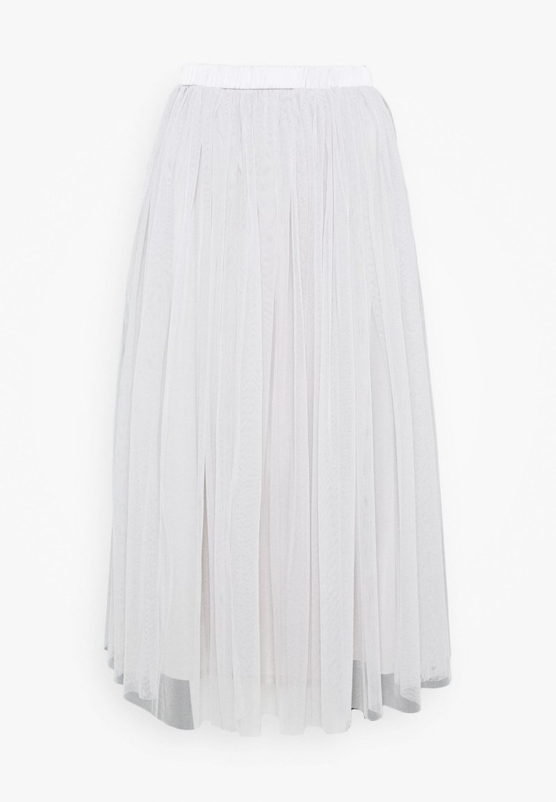 Lace & Beads Tall - VAL SKIRT - A-Linien-Rock - light grey