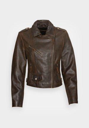 BESTIE - Leather jacket - antique brown