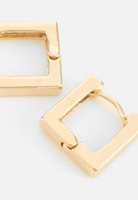 Orelia - LINEAR SQUARE HOOP EARRINGS - Earrings - pale gold-coloured - 3