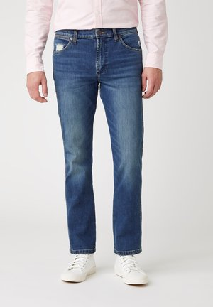 GREENSBORO - Straight leg jeans - dirty green