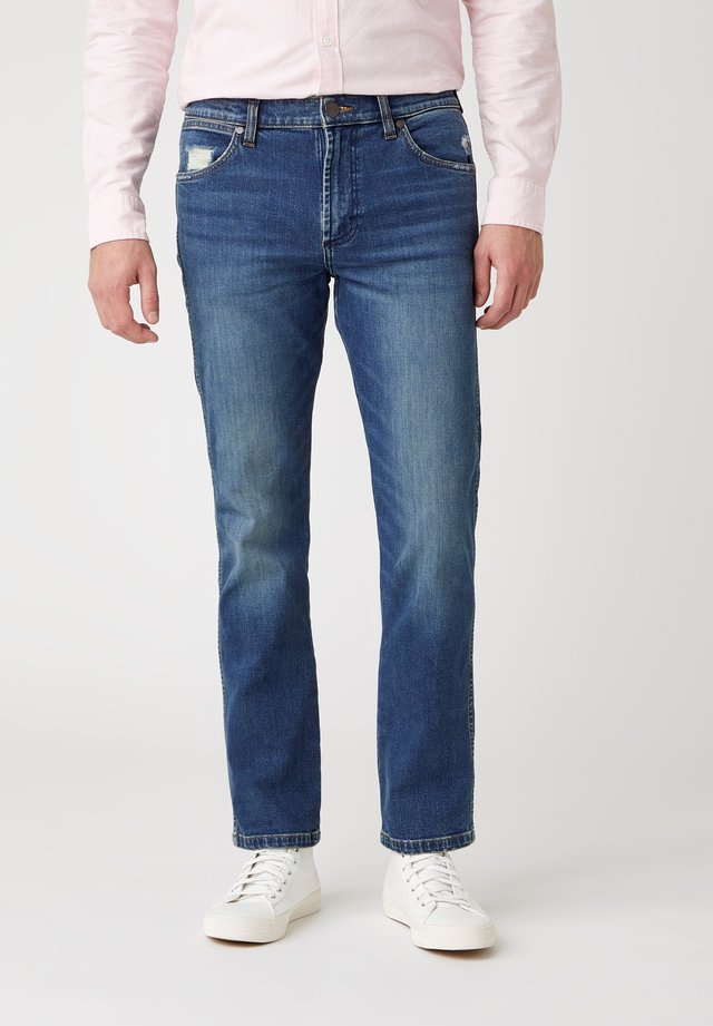 GREENSBORO - Straight leg jeans - dirty green