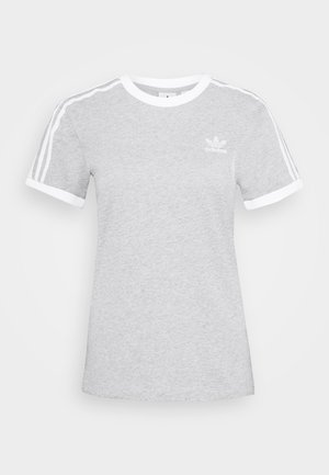 3 STRIPES TEE - Camiseta estampada - medium grey heather