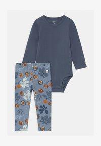 Lindex - CHESTNUT SET - Leggings - Trousers - dusty blue - 0
