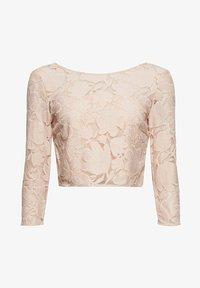 Esprit Collection - LACE SHIRT - Print T-shirt - nude - 9
