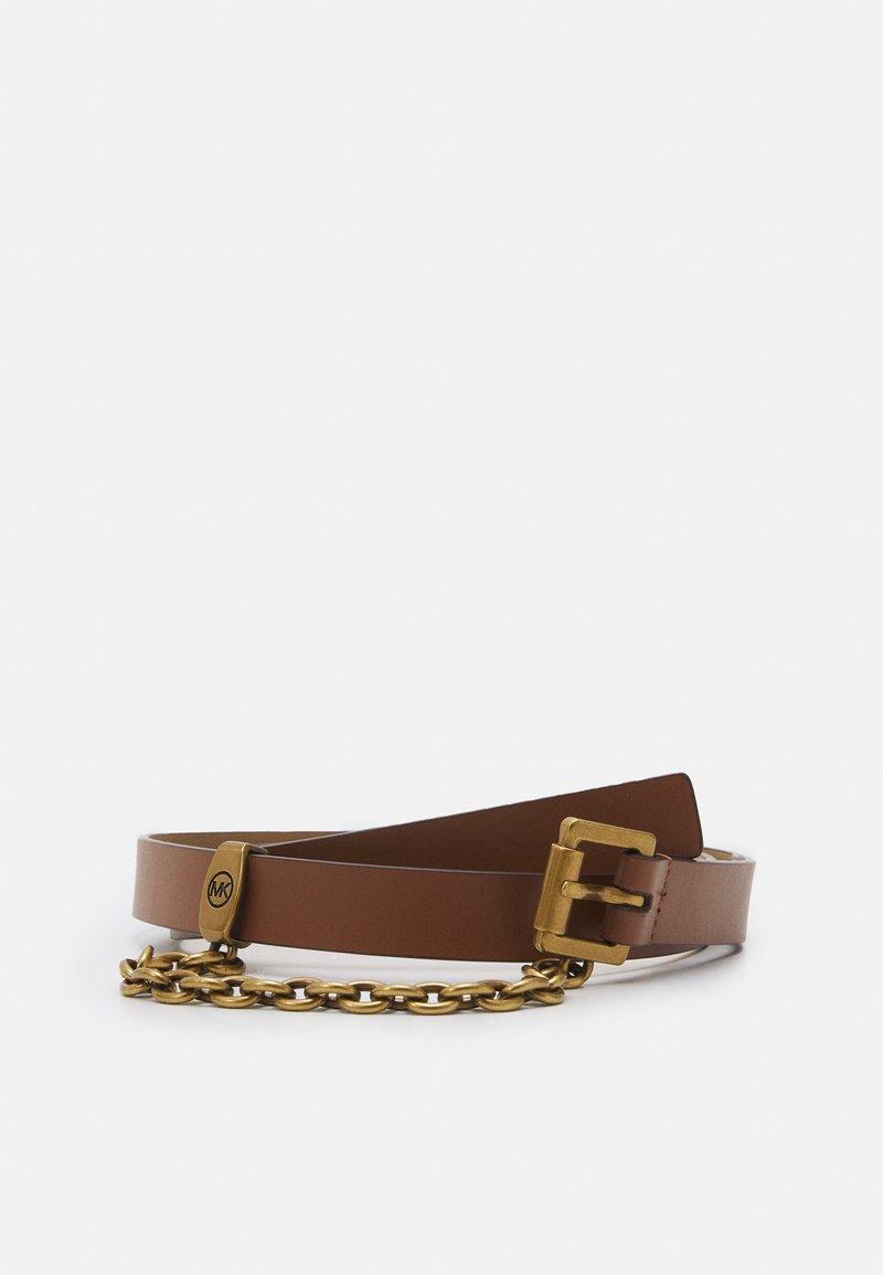 MICHAEL Michael Kors - CHAIN SWAG BELT - Belt - luggage/gold-coloured