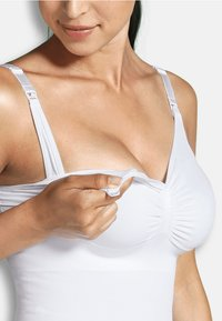 Carriwell - NURSING TOP WITH SHAPEWEAR - Undershirt - white - 3