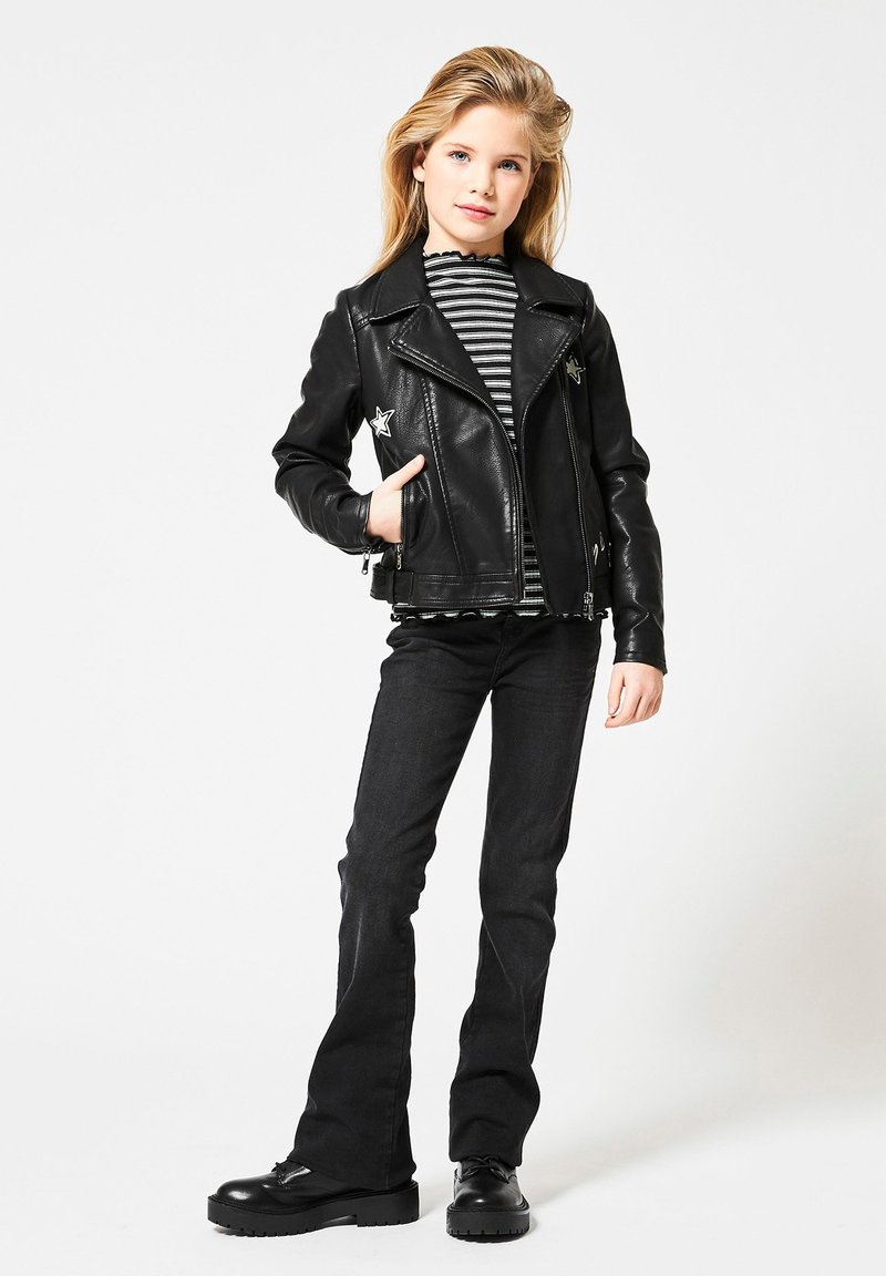 America Today - Faux leather jacket - black