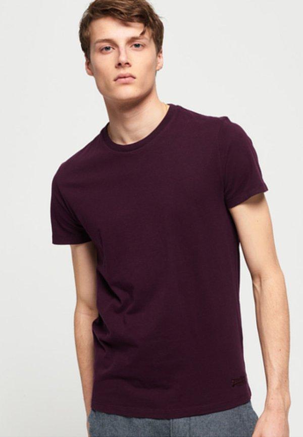 Superdry VINTAGE EMBROIDERY - T-shirt basic - fig/fioletowy Odzież Męska AOXR
