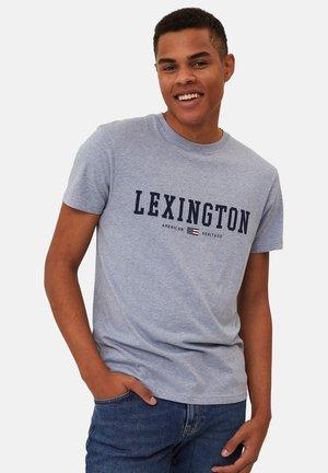 T-shirts med print - blue melange