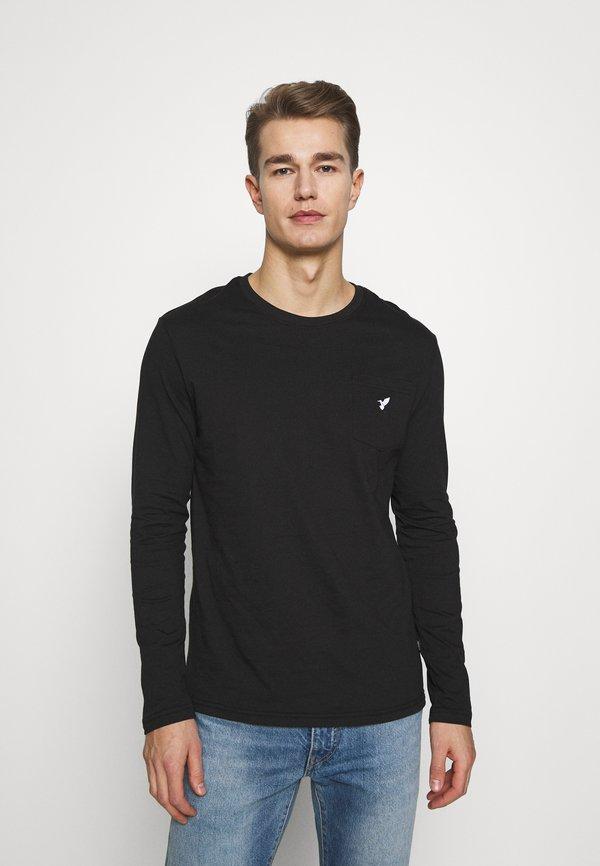 Pier One Bluzka z długim rękawem - black/czarny Odzież Męska DPAU
