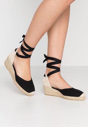 MINI - Lace-up heels - black
