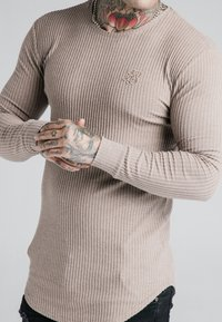 SIKSILK - LONG SLEEVE BRUSHED JUMPER - Strikpullover /Striktrøjer - beige - 4