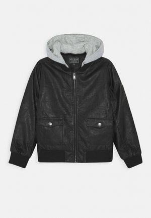 JUNIOR PADDED JACKET - Giacca in similpelle - jet black