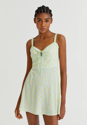 WITH TIE DETAIL - Day dress - green