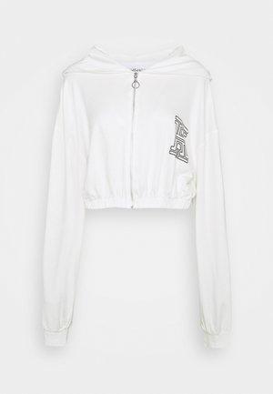 ZIPPER HOODY CROPPED - Jersey con capucha - off-white