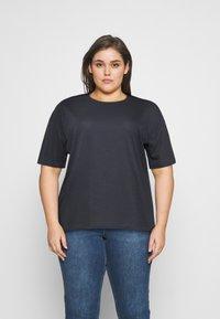 Even&Odd Curvy - Jednoduché triko - dark grey - 0