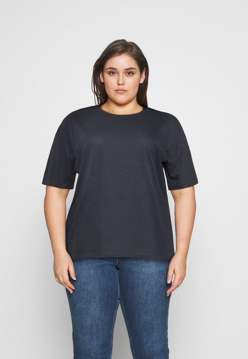 Even&Odd Curvy - Jednoduché triko - dark grey