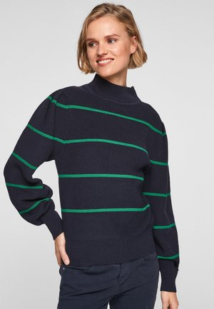 À MANCHES BOUFFANTES - Jumper - navy stripes