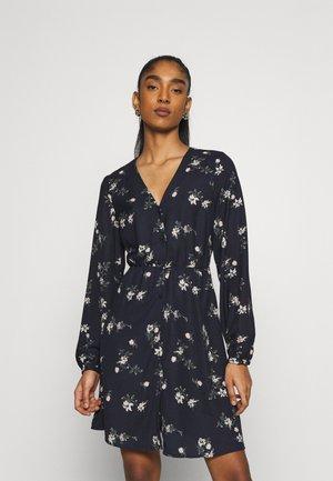 VMFALLIE TIE DRESS - Shirt dress - navy