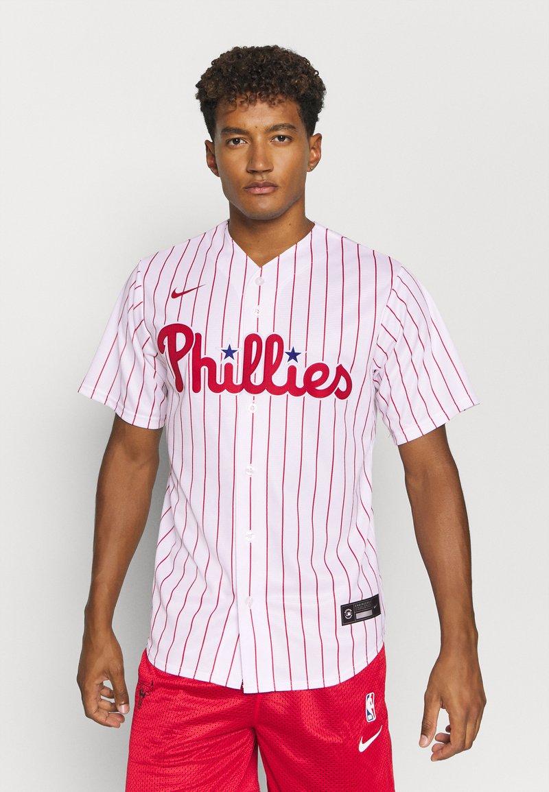 Nike Performance - MLB PHILADELPHIA PHILLIES OFFICIAL REPLICA HOME - Club wear - white/scarlet