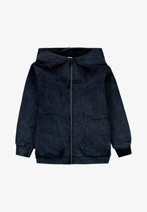 Sweater met rits - blue dark washed