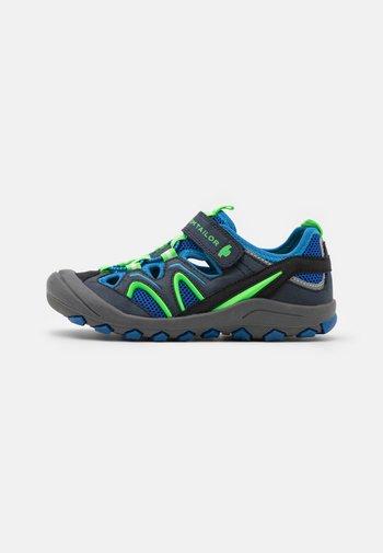 Walking sandals - navy/royal/lime