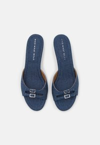 Who What Wear - RACHEL - Heeled mules - denim - 4