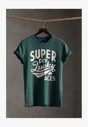 LIMITED EDITION ONE COLOUR - T-Shirt print - buck green marl