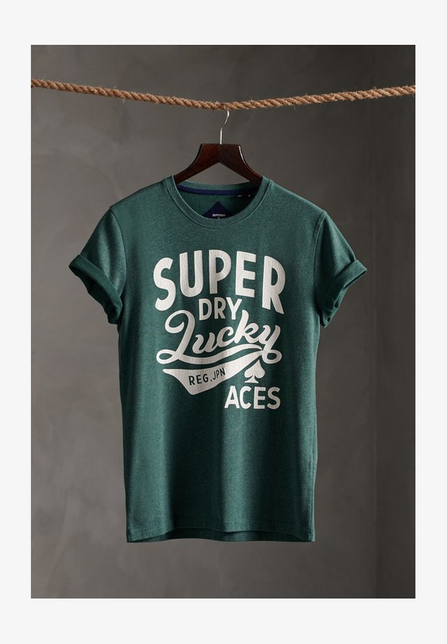 LIMITED EDITION ONE COLOUR - Print T-shirt - buck green marl