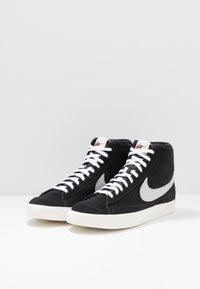 Nike Sportswear - BLAZER MID '77 - Sneakers high - black/pure platinum/sail/white - 7