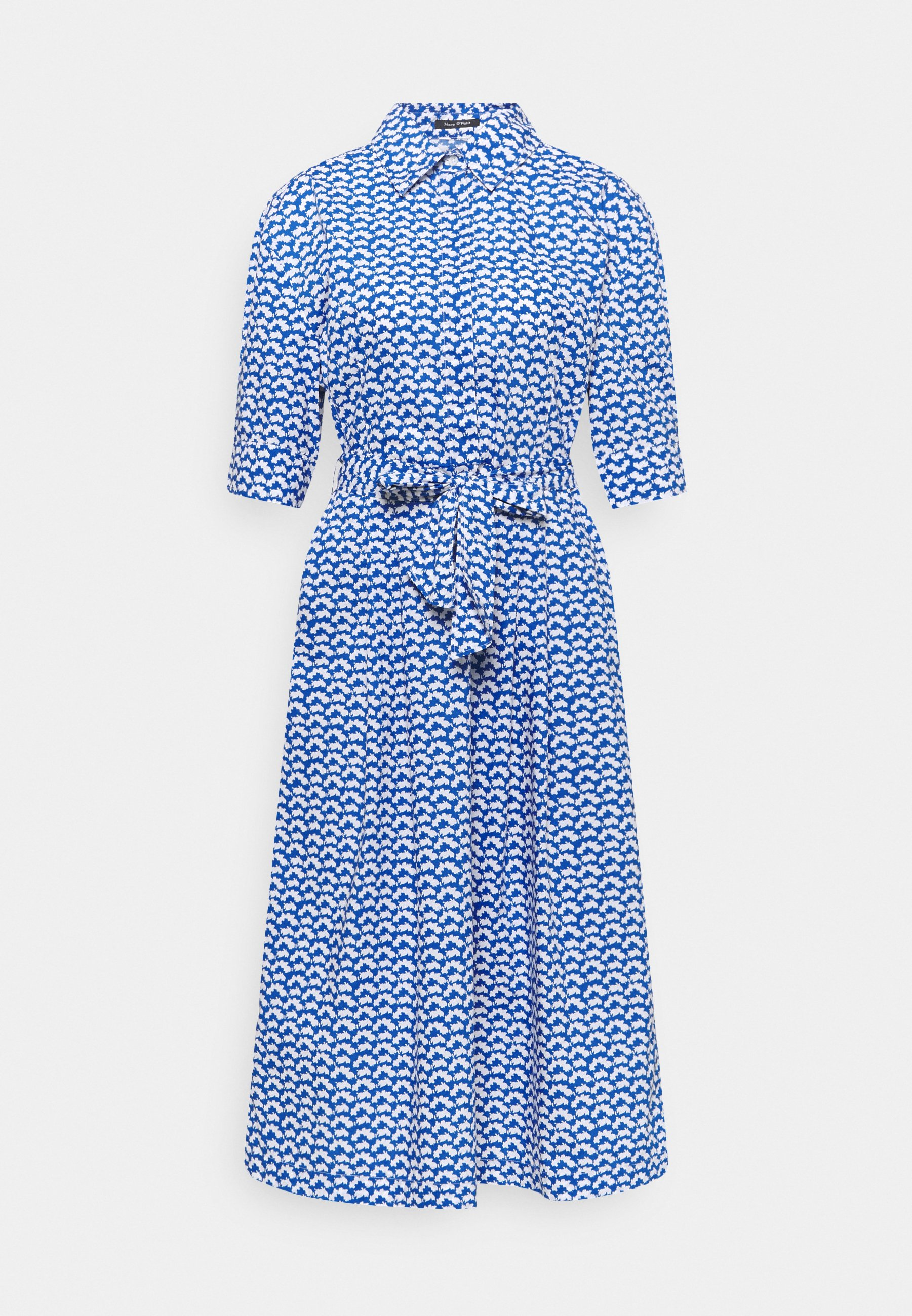 Women DRESS STYLE BELTED WAIST PLEATS DETAILS - Shirt dress
