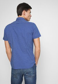 Marc O'Polo - BUTTON DOWN SHORT SLEEVE TURNED UP ONE POCKET FACING AT PLACKET - Shirt - mazarine blue - 2